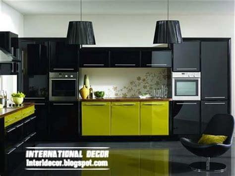 green and black kitchen modern black kitchen designs ideas furniture cabinets 2014 international decoration