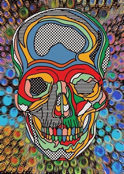 Psychedelic Skulls Skull Skeletons Trippy Teapot Brewing