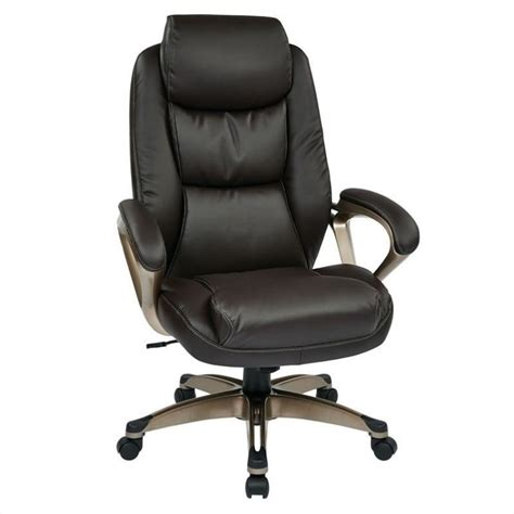 eco leather office chair in cocoa and espresso ech89181 ec1