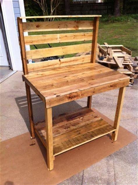pallet potting bench diy pallet wood potting bench pallet furniture diy