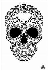 Coloring Pirate Pages Skulls Skull Crossbones Popular sketch template
