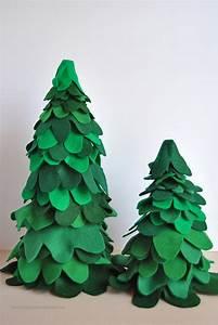 Layered Felt Christmas Trees - Sparkles of Sunshine