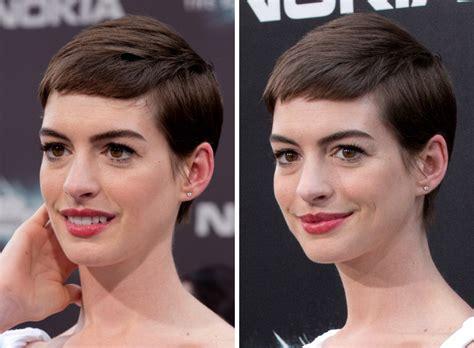 anne hathaways short haircut pixie