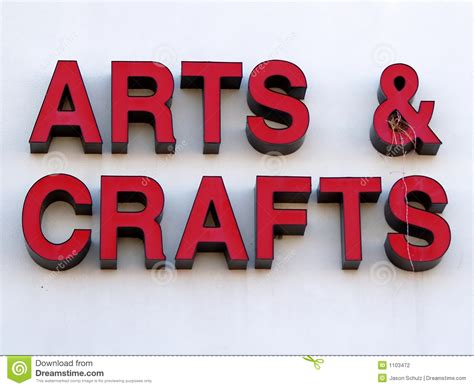 Craft Images Arts And Crafts Sign Stock Photo Illustration Of