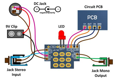 footswitch pdt pcb