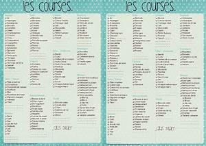 Listes De Courses : liste de courses vierges imprimer de couleur bleu ~ Nature-et-papiers.com Idées de Décoration