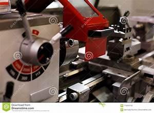 Mechanical Lathe Machine Stock Photo  Image Of Equipment