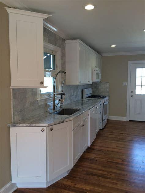 Buy Ice White Shaker RTA (Ready to Assemble) Kitchen