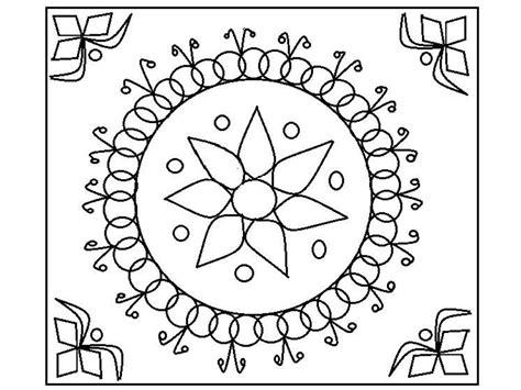 printable rangoli coloring pages  kids