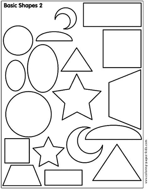 shape color pages coloring pages  kids educational