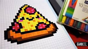 Pixel Art Manger : handmade pixel art how to draw a kawaii pizza by garbi ~ Melissatoandfro.com Idées de Décoration