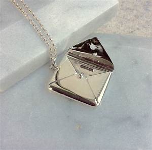 personalised silver envelope necklace with letter by lime With envelope necklace with letter