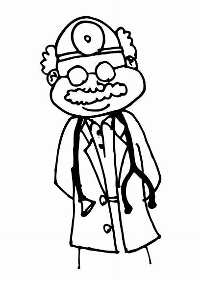 Doctor Drawing Doctors Coloring Clipart Office Pages