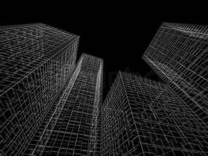 Abstract digital graphic background Modern buildings