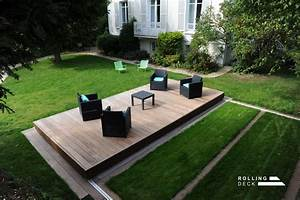 Couverture De Terrasse : rolling deck la couverture terrasse mobile de piscine et ~ Edinachiropracticcenter.com Idées de Décoration