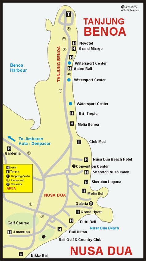 nusa dua area web site information map