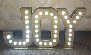Pinterest discover and save creative ideas for Lighted letters joy