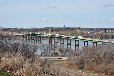 interstate bridge illinois mississippi river across guides schwengel fred iowa aaroads between memorial four