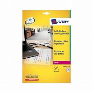 Avery cable marker labels 24 sheets of 20 labels total for Avery cable label sheets