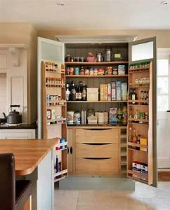 Kitchen Black Wooden Pantry Cabinet With Two Pair Doors