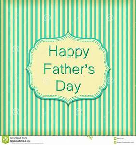 Happy Fathers Day On Stripe Wallpaper Wall. Vector Text On ...