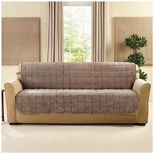 Sure fitr quilted velvet furniture friend armless sofa for Quilted sectional sofa cover