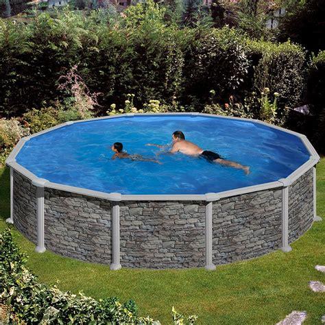 piscine hors sol rigide piscina desmontable gre c 243 rcega circular imitaci 243 n piedra poolaria