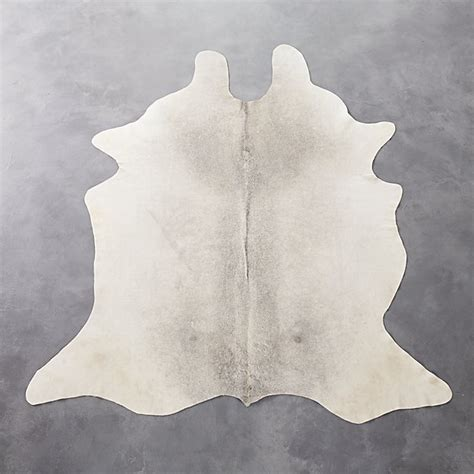 White Cowhide Rug by Light Cowhide Rug 5 X8 Reviews Cb2