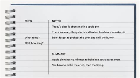 The Split Page Method Of Note Taking