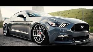 Joe's Nardo Grey S550 Mustang GT   Slammed Stangs - YouTube