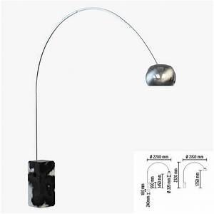 Floor lamp flos arco 3d model max obj fbx cgtradercom for Floor lamp 3ds max free model