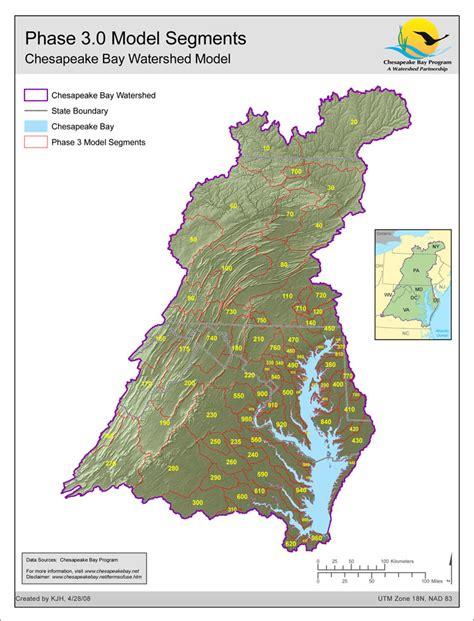 Chesapeake Bay Gis Data by Map Phase 3 0 Model Segmentation Chesapeake Bay