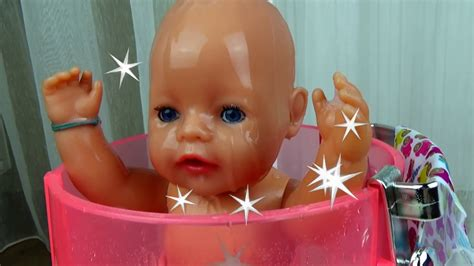 Baby Born Doll Rain Fun Shower Bath Time Evening Routine