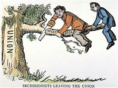 Cartoon Secession 1861 Clipart Granger Union War