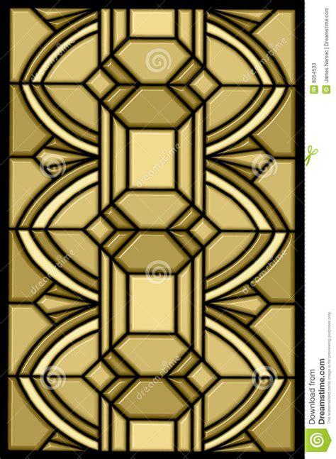 art deco stain glass design stock  image