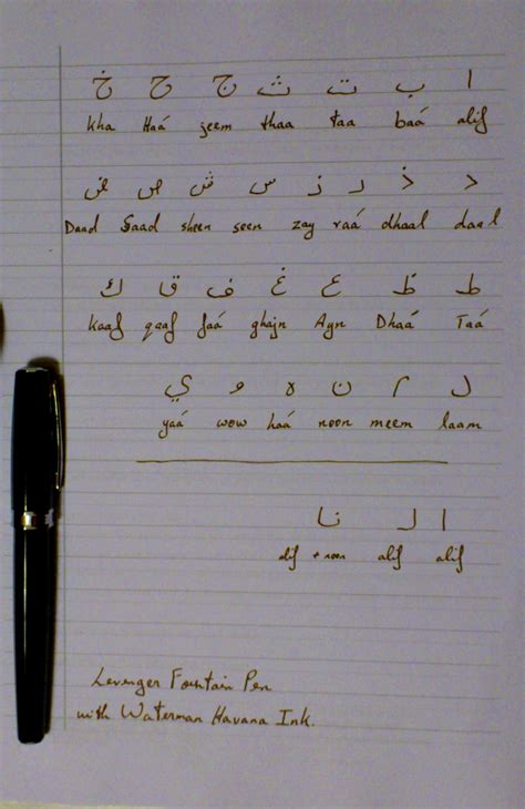 learn  write arabic page  calligraphy discussions