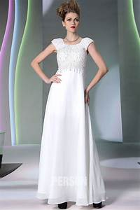 robe soiree blanche empire en mousseline a mancheron With robe blanche soiree