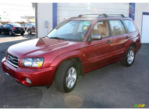 subaru forester red 2003 cayenne red pearl subaru forester 2 5 xs 23636895