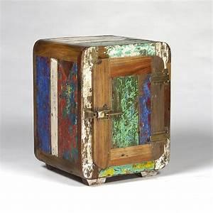 Bout De Canapé Bois : bout de canap vintage bois de bateau recycl pas cher en vente chez origin 39 s meubles ~ Teatrodelosmanantiales.com Idées de Décoration