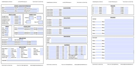 Simple Fill-in Pdf Dndnext Character Sheet @ Rpg Musings