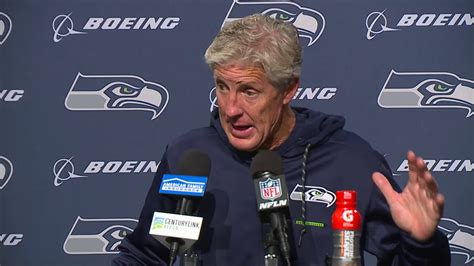 seahawks head coach pete carroll  ers postgame press