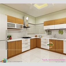 Modern Home Interiors Of Bedroom, Dining, Kitchen  Kerala