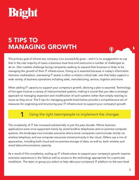 5 Tips To Managing Growth Guide
