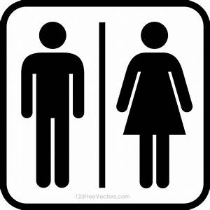 male restroom symbol clipart best With male female bathroom sign images