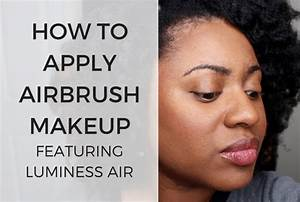 How To Apply eye makeup using DINAIR Airbrush