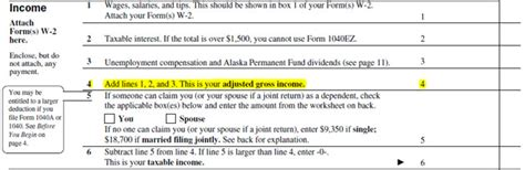 Adjusted Gross Income Taxes On Form 2016