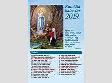 13 lisni Katolički kalendar za 2019 godinu vizual br 2
