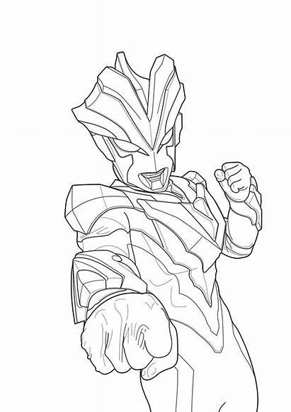 Ultraman Mewarnai Gambar Sketsa Robot Untuk Zero