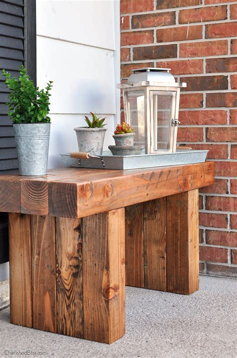 outdoor table ls for porches diy outdoor table bench front porch bench and porch bench
