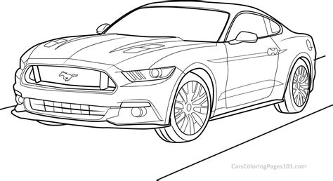 mustang coloring pages ford mustang gt 2015 front view coloring page free